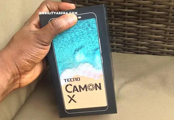 TECNO Camon X Unboxing box
