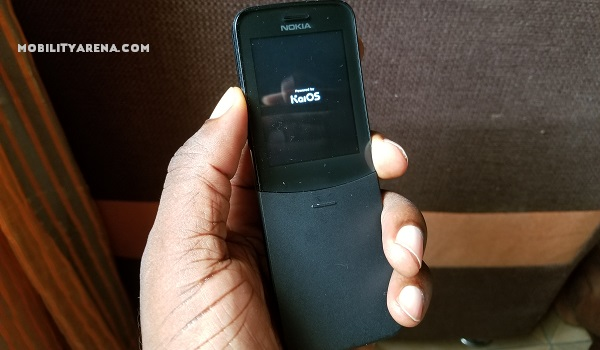 nokia 8110 4g closed in hand