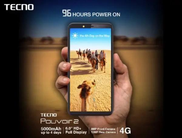 Tecno Pouvoir 2 with 5000mah battery