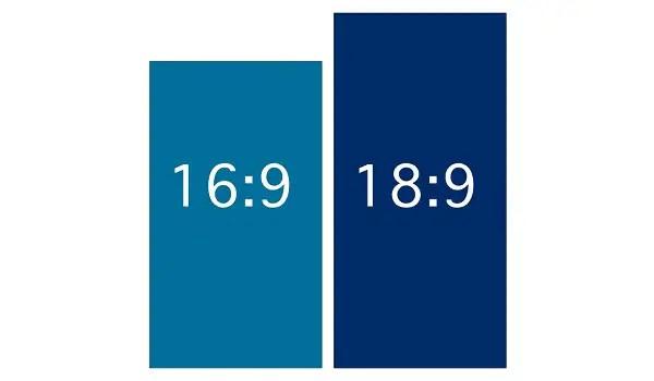 16:9 aspect ratio versus 18:9 aspect ratio