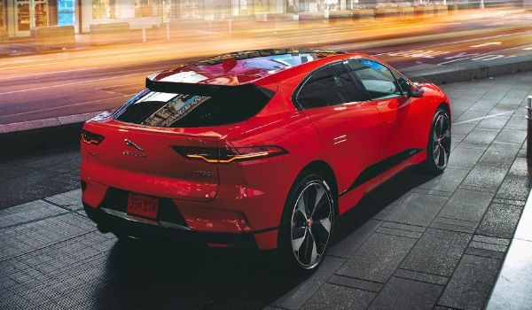 jaguar i-pace red rear