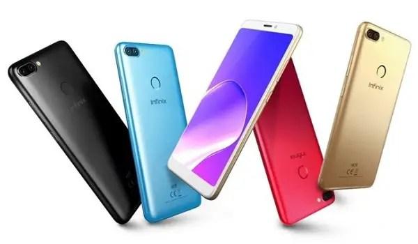 Infinix Smart 2 Pro specs five colours