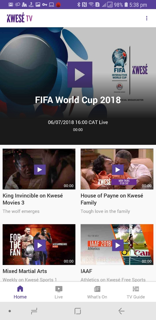 TV apps review -  kwese tv home - free sports streaming