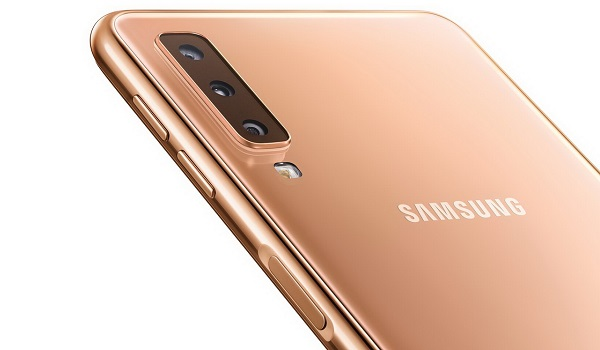 Samsung Galaxy A7 2018's triple camera