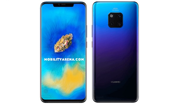 Huawei Mate 20 Pro front and back