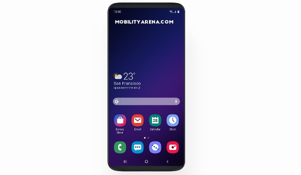 samsung galaxy s9 plus one ui home