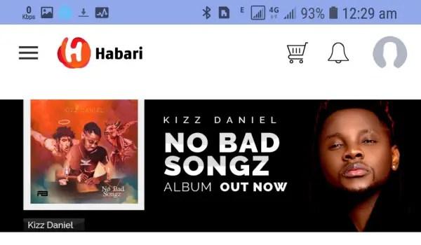 Habari app homepage