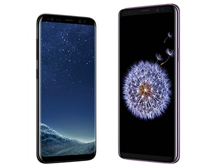 Samsung Galaxy S9 and S9 Plus Bezel-less phones