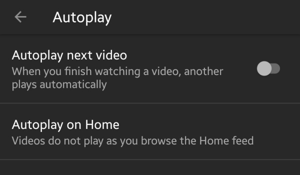 disable autoplay videos on YouTube