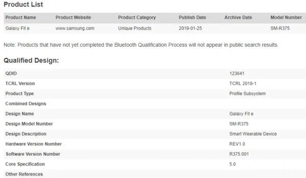 Galaxy Buds, Galaxy Fit, product list