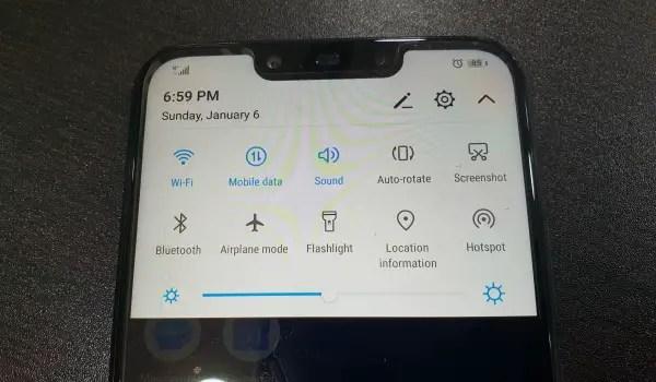 Huawei nova 3i emui 9.2 dropdown menu