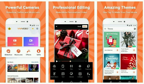 best free video editing applications - Viva Video