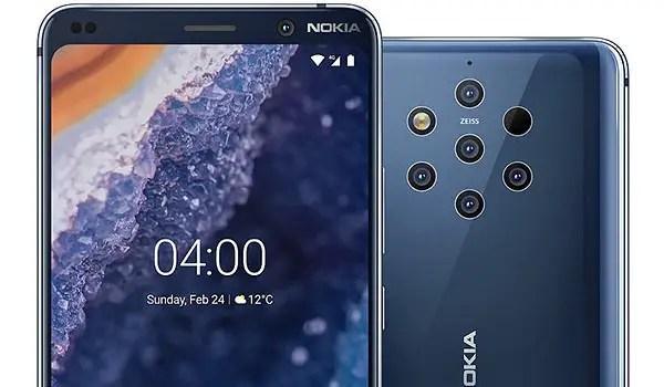 Nokia 9 PureView top