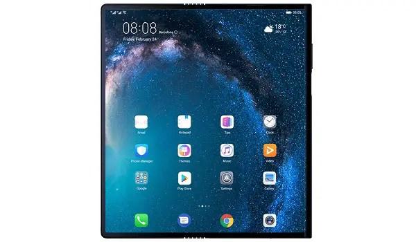 Huawei Mate X full screen