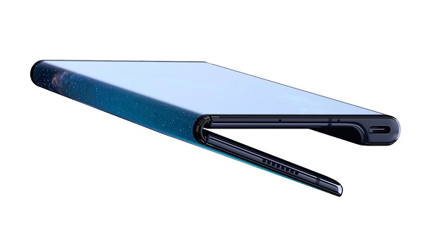 Huawei Mate X foldable phone folded