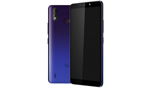 itel P33 Plus blue gradient