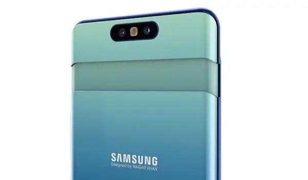 Samsung Galaxy A80 camera popup