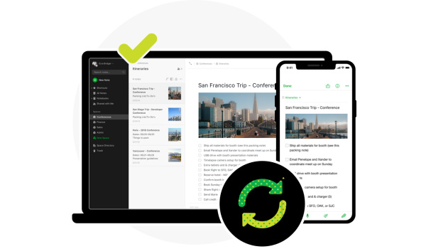 sync everything with Evernote