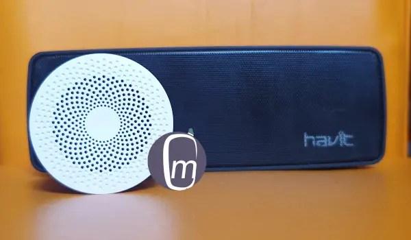 xiaomi mi compact 2 and havit bluetooth speakers