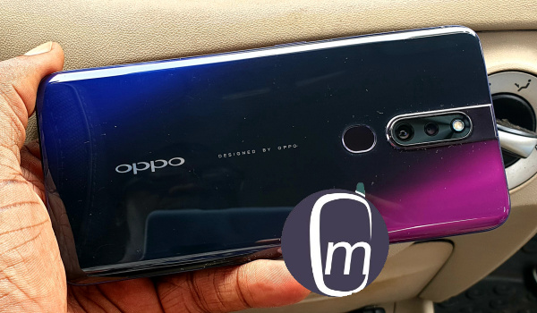Oppo f11 pro thunder black colour back