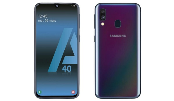 Samsung Galaxy A40 front and back