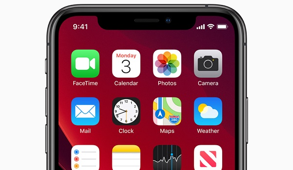 Apple ios 13 home screen iphone