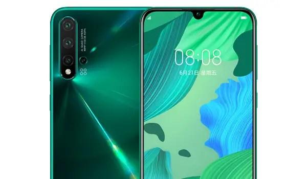 Huawei Nova 5 pro camera green