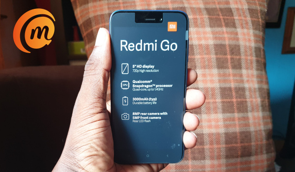 Redmi go in hand
