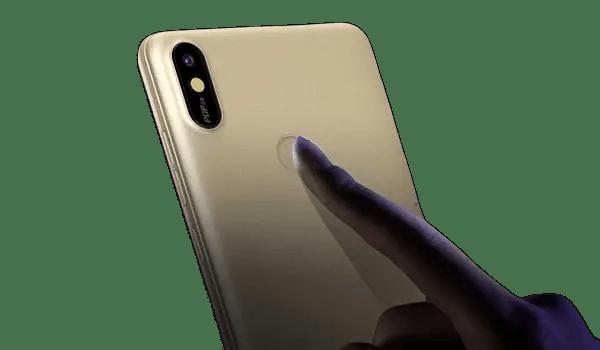 TECNO Pop 2s fingerprint reader and camera