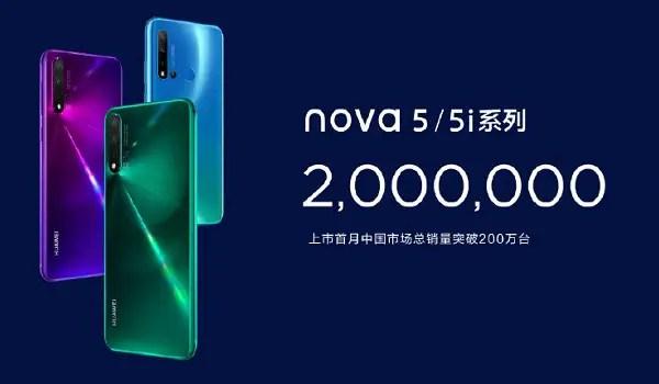 Huawei nova 5 phones