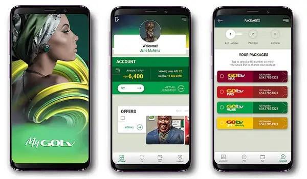 mygotv app screens