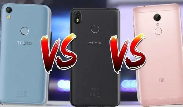 Infinix and tecno and xiaomi phones