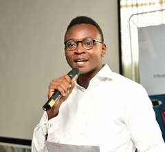 Joseph Adeola, PR Manager, OPPO Mobile Nigeria addressing guests at the launch of the OPPO A1k and A5s smartphones