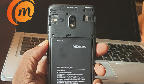 Nokia 2.2 with removable back cover and removable battery