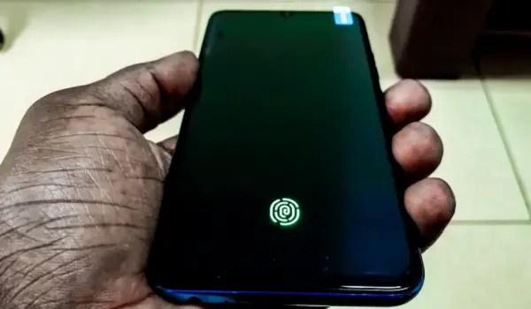 In-display fingerprint mount on the Tecno Phantom 9