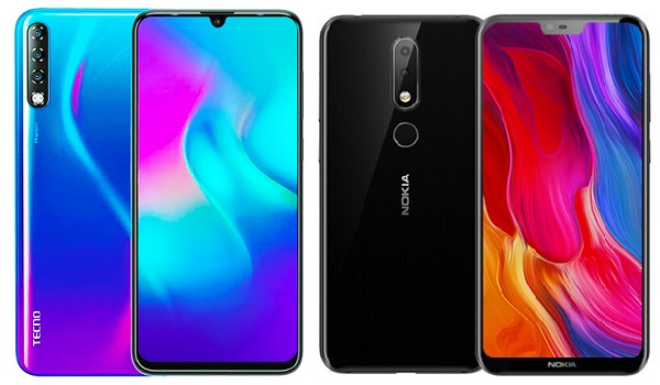 TECNO Phantom 9 vs Nokia 6.1 Plus comparison review