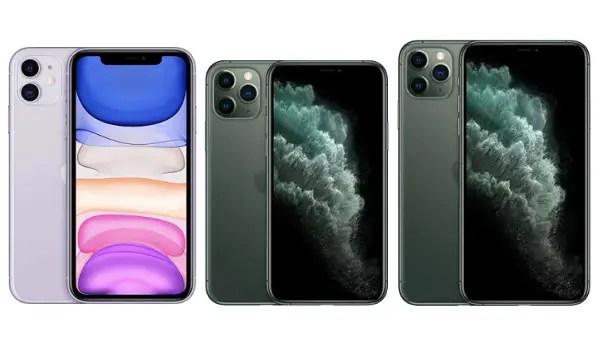 Apple iPhone 11 vs iPhone 11 Pro vs iPhone 11 Pro Max