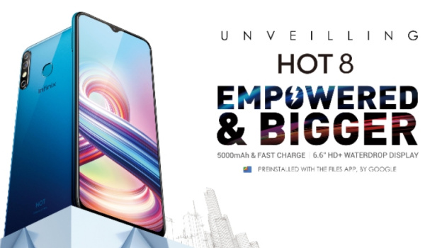 Infinix hot 8 - empowered, bigger display and bigger battery
