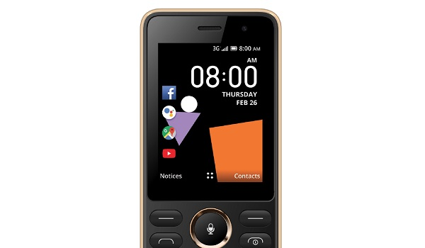Orange Sanza smart feature phone with KaiOS