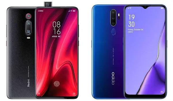 Xiaomi Mi 9T vs OPPO A9 2020
