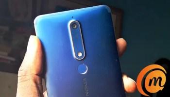 Nokia 6.1 rear camera and fingerprint scanner