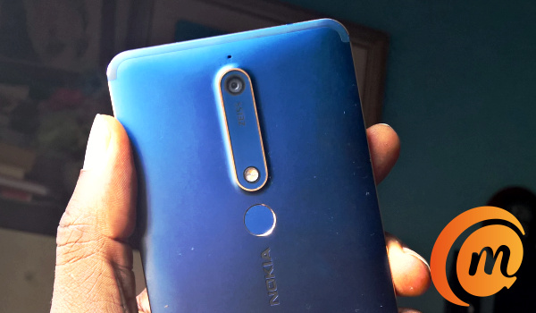 Nokia 6.1 rear camera and fingerprint scanner