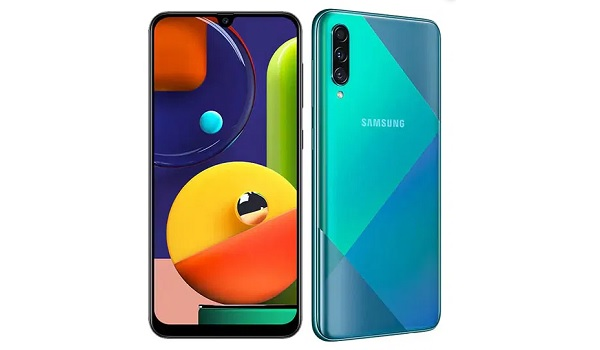 Samsung Galaxy A91 front and back