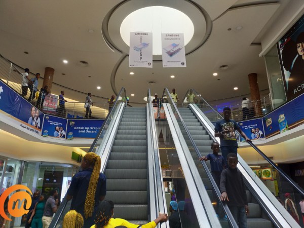 Ikeja city mall escalator captured with Oppo A9 2020