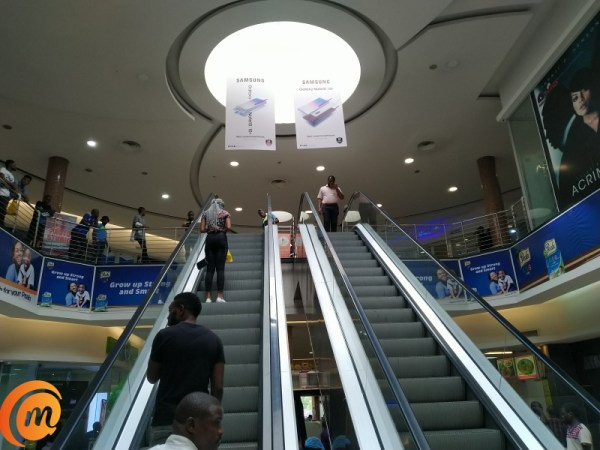 Ikeja city mall escalator shot with Nokia 6.2