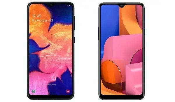 Samsung Galaxy A20 vs Samsung Galaxy A20s