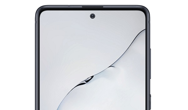 Samsung Galaxy Note10 Lite top front punch-hole camera