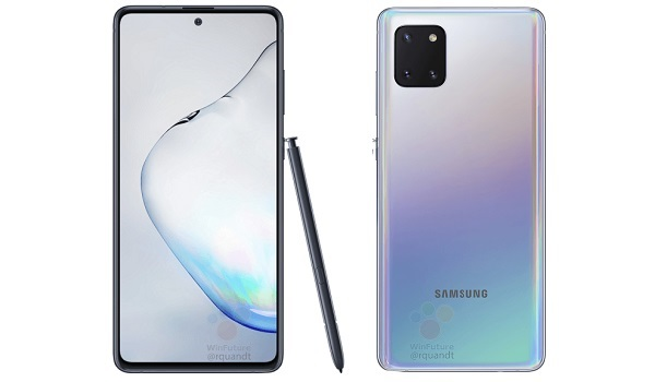 Samsung Galaxy Note10 Lite front and back