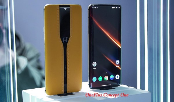 OnePlus Concept One smartphone with a disappearing camera