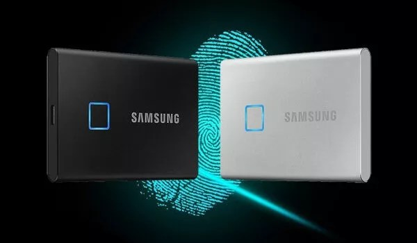 Samsung T7 Touch portable SSD with fingerprint scanner